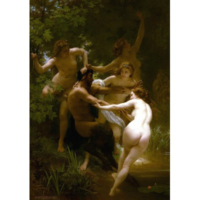 Puzzle Grafika-00396 William Bouguereau: Les Nymphes et le Satyre, 1873