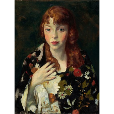 Puzzle Grafika-00433 Robert Henri: Edna Smith in a Japanese Wrap, 1915