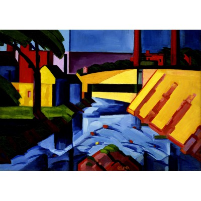 Puzzle Grafika-00515 Oscar Bluemner: Evening Tones, 1911-1917