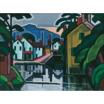 Puzzle  Grafika-00516 Oscar Bluemner: Old Canal Port, 1914