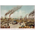 Puzzle  Grafika-00570 Poster Currier & Ives: The levee - New Orleans, 1884
