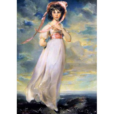 Puzzle Grafika-00581 Sir Thomas Lawrence: Sarah Barrett Moulton: Pinkie, 1794