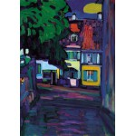 Puzzle  Grafika-00637 Wassily Kandinsky: Murnau, Houses in the Obermarkt, 1908