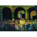 Puzzle  Grafika-00639 Wassily Kandinsky: The Ludwigskirche in Munich, 1908