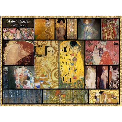 Puzzle Grafika-00839 Collage - Gustav Klimt