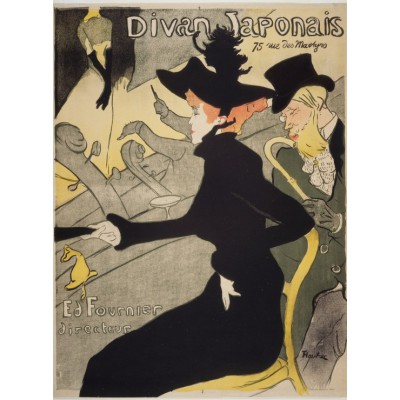 Puzzle Grafika-00883 Henri de Toulouse-Lautrec: Divan Japonais, 1892-1893