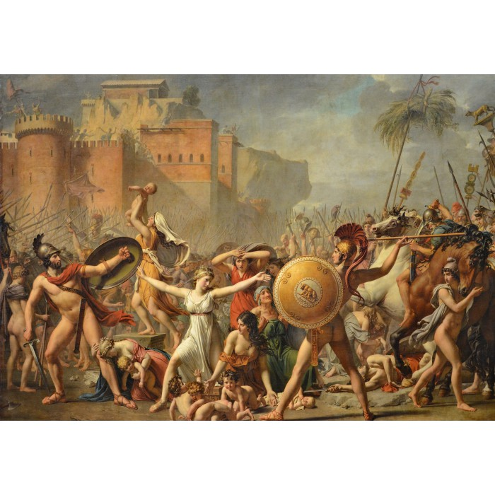 Jacques-Louis David: The Intervention of the Sabine Women, 1799