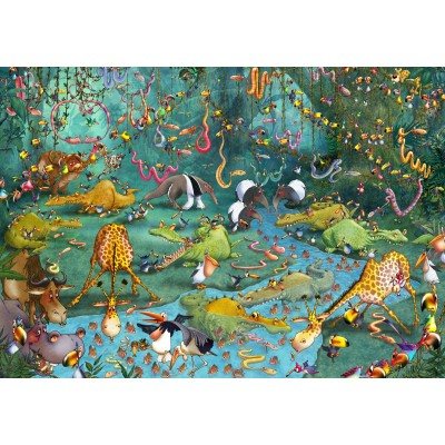 Puzzle Grafika-01424 François Ruyer: Jungle