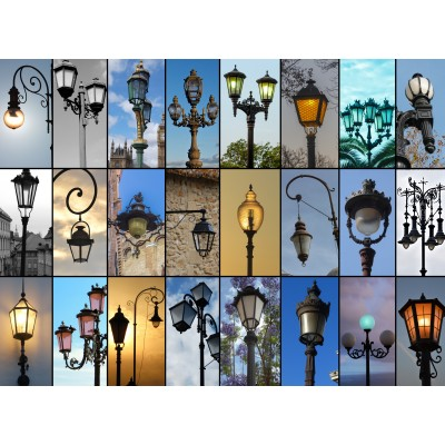 Puzzle Grafika-01478 Collage - Lampen