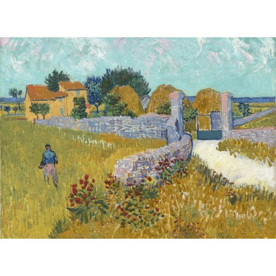 Puzzle Grafika-01513 Vincent Van Gogh - Farmhouse in Provence, 1888