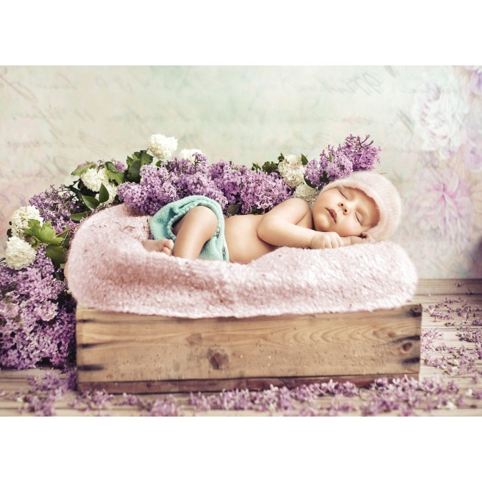 Konrad Bak: Baby sleeping in the Lilac