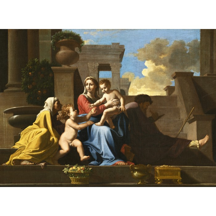 Nicolas Poussin: The Holy Family on the Steps, 1648