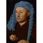 Puzzle  Grafika-01724 Jan van Eyck - Portrait of a Man with a Blue Chaperon, 1430-33