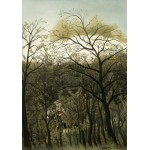 Puzzle  Grafika-01754 Henri Rousseau: Rendezvous in the Forest, 1889