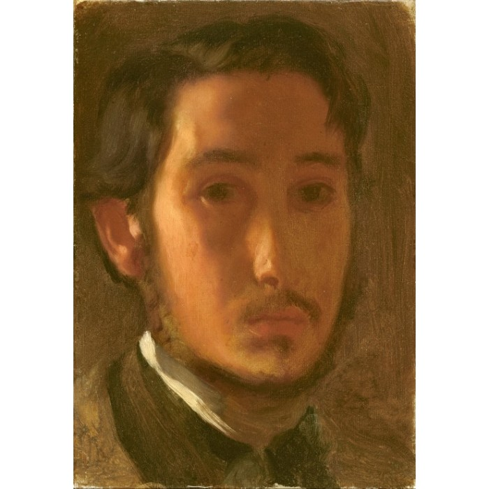 Edgar Degas: Self-Portrait with White Collar, 1857