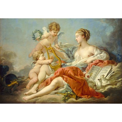 Puzzle Grafika-01797 François Boucher: Allegory of Music, 1764