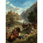 Puzzle  Grafika-01801 Eugène Delacroix: Arabs Skirmishing in the Mountains, 1863