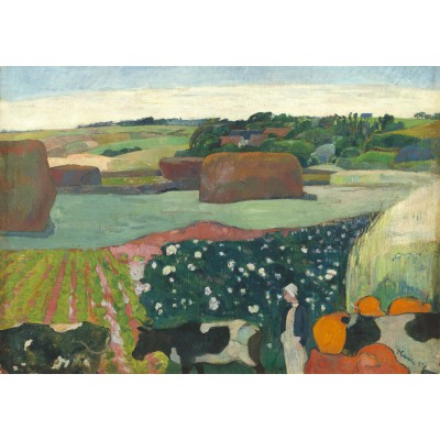 Puzzle Grafika-01834 Paul Gauguin: Haystacks in Brittany, 1890