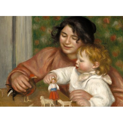 Puzzle Grafika-01877 Auguste Renoir: Gabrielle and the Artist's Son, Jean, 1895-1896