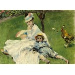 Puzzle  Grafika-01902 Auguste Renoir: Madame Monet and Her Son, 1874