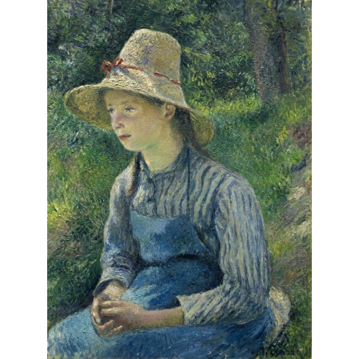 Camille Pissarro: Peasant Girl with a Straw Hat, 1881