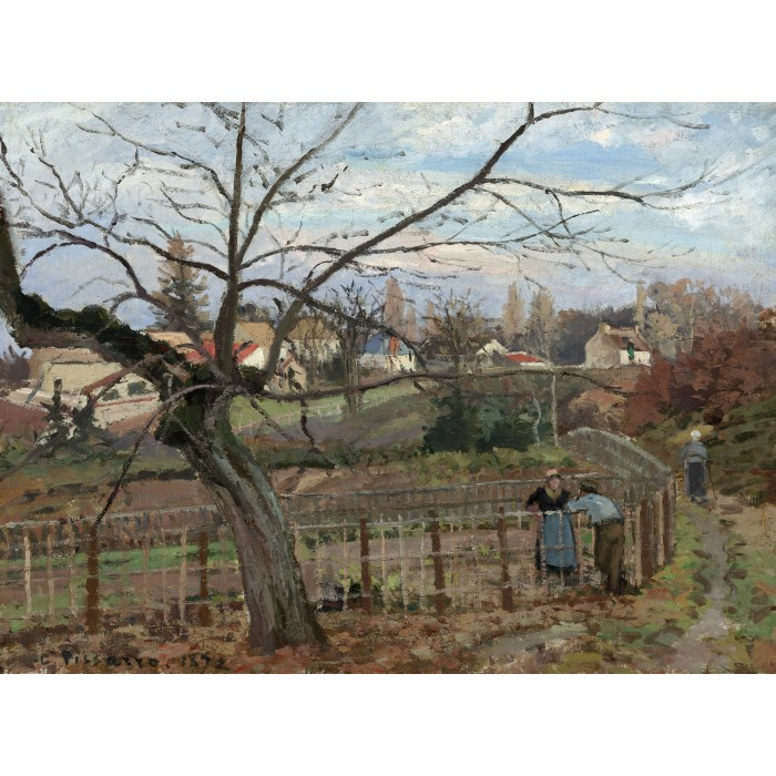 Camille Pissarro: The Fence, 1872