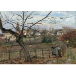 Puzzle  Grafika-02037 Camille Pissarro: The Fence, 1872