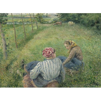 Puzzle Grafika-02039 Camille Pissarro: Young Peasant Girls Resting in the Fields near Pontoise, 1882