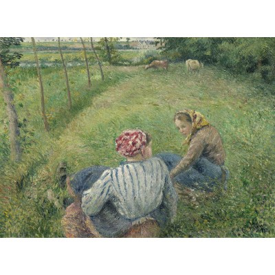 Puzzle Grafika-02041 Camille Pissarro: Young Peasant Girls Resting in the Fields near Pontoise, 1882