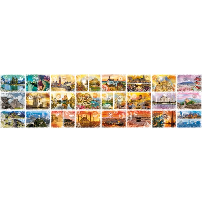 Das neue grösste Puzzle der Welt: Travel around the World