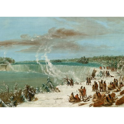 Puzzle Grafika-02246 George Catlin: Portage Around the Falls of Niagara at Table Rock, 1847-1848