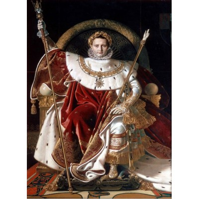 Puzzle Grafika-02255 Jean-Auguste-Dominique Ingres: Napoléon on the Imperial Throne, 1806