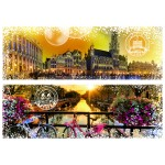 Puzzle  Grafika-02290 Travel around the World - Belgien und Niederlande