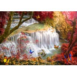 Puzzle  Grafika-02673 Deep Forest Waterfall