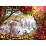 Puzzle  Grafika-02674 Deep Forest Waterfall