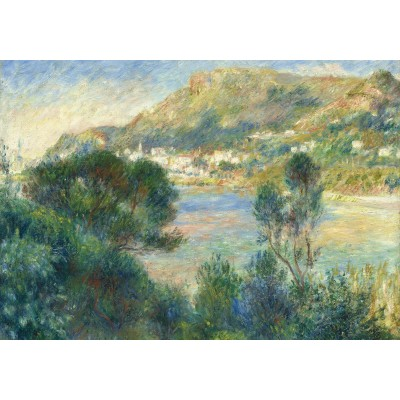 Puzzle Grafika-02801 Auguste Renoir - View of Monte Carlo from Cap Martin