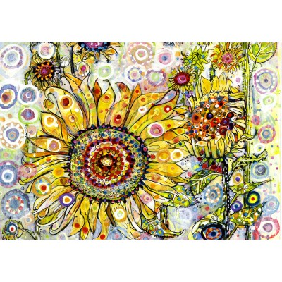Puzzle Grafika-02876 Sally Rich - Sunflowers