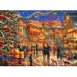 Puzzle  Grafika-02904 Chuck Pinson - Christmas at the Town Square