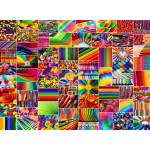 Puzzle  Grafika-02914 Collage - Farben