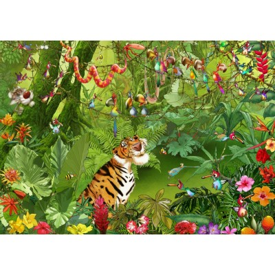 Puzzle Grafika-T-00546 François Ruyer - Jungle