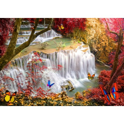 Puzzle Grafika-T-00677 Deep Forest Waterfall