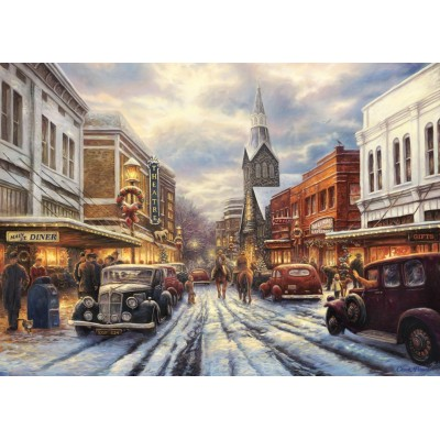 Puzzle Grafika-T-00810 Chuck Pinson - The Warmth of Small Town Living