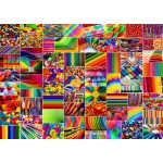 Puzzle  Grafika-T-00916 Collage - Farben