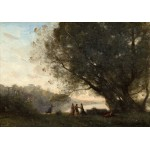 Puzzle   Jean-Baptiste-Camille Corot: Dance under the Trees at the Edge of the Lake, 1865-1870