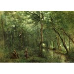 Puzzle   Jean-Baptiste-Camille Corot: The Eel Gatherers, 1860-1865