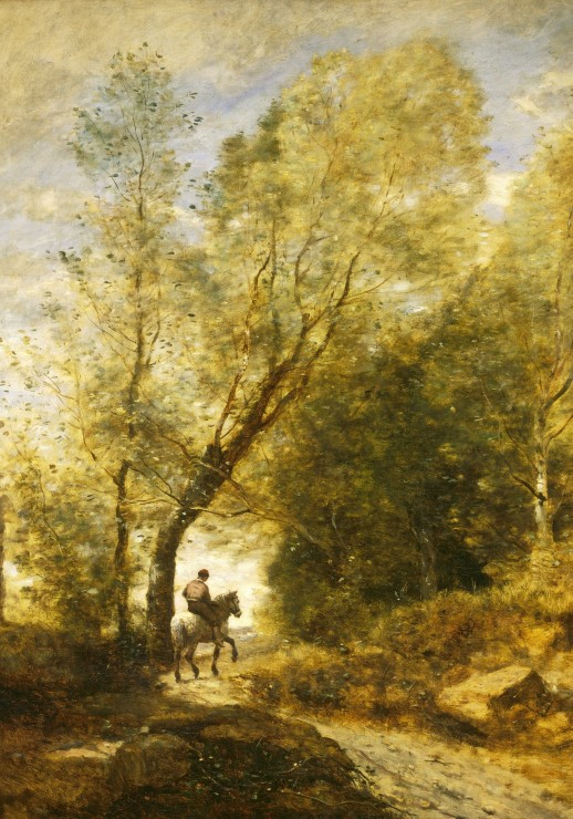 jean baptiste camille corot the forest of coubron 1872. Black Bedroom Furniture Sets. Home Design Ideas