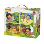 King-Puzzle-05238 4 Puzzles - Nickelodeon & Dora