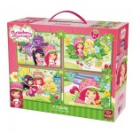 King-Puzzle-05253 4 Puzzles - Strawberry Shortcake