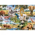 Puzzle  King-Puzzle-05481 Wilde Tiere