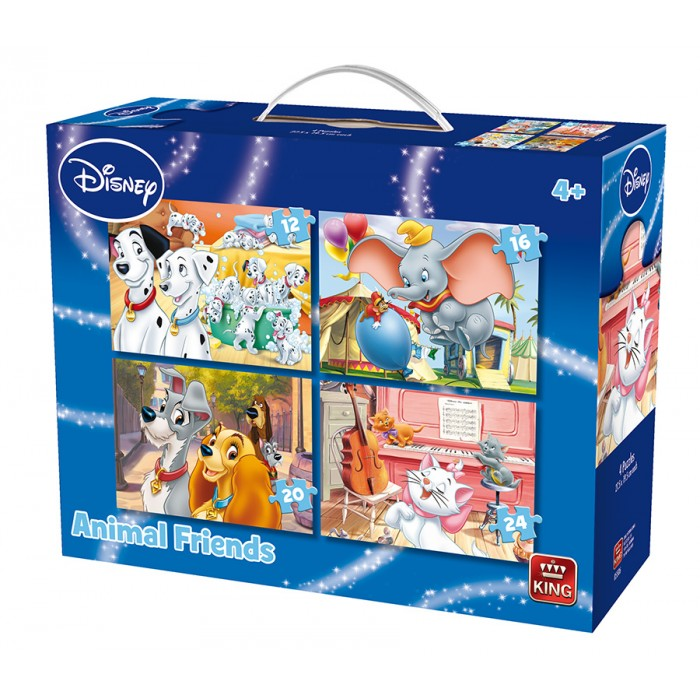 4 Puzzles - Animal Friends Disney